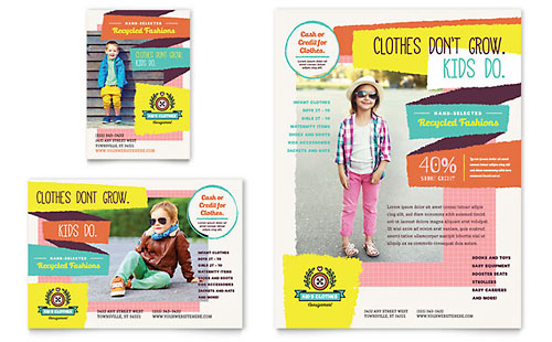 Kids Consignment Shop Flyer & Ad - Microsoft Office Template