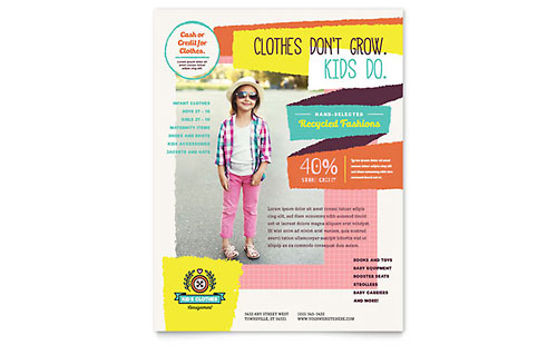 Kids Consignment Shop Flyer - Microsoft Office Template