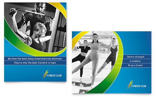 Sports & Health Club Poster - Microsoft Office Template