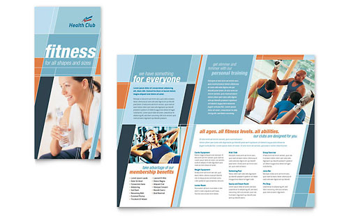 Health & Fitness Gym Brochure Template - Microsoft Office