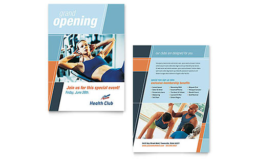Health & Fitness Gym - Sample Announcement Template - Word & Publisher