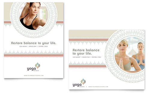 Pilates & Yoga Poster - Microsoft Office Template