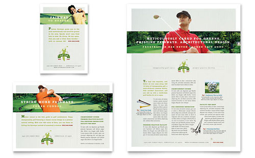 Golf Course & Instruction Flyer & Ad Template Design