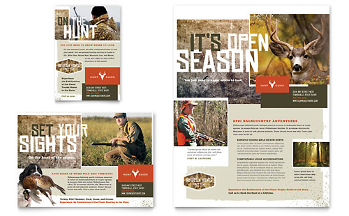 Hunting Guide Flyer & Ad - Microsoft Office Template
