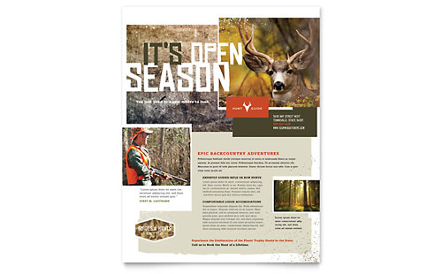 Hunting Guide Flyer - Microsoft Office Template