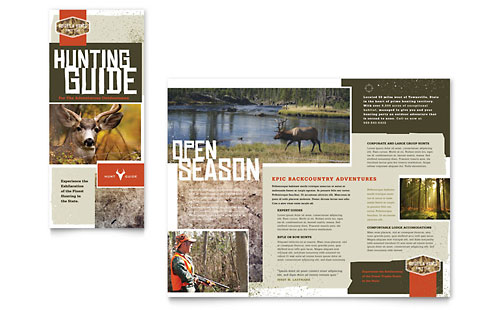 Hunting Guide Tri Fold Brochure Template - Microsoft Office