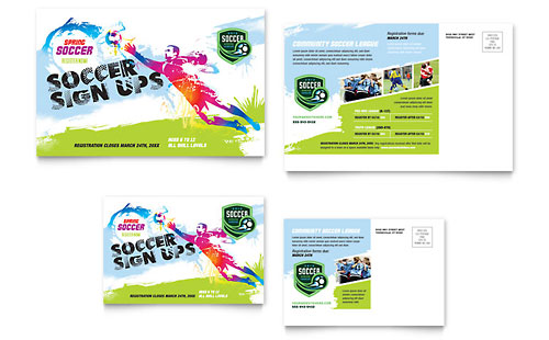 Youth Soccer - Postcard Template