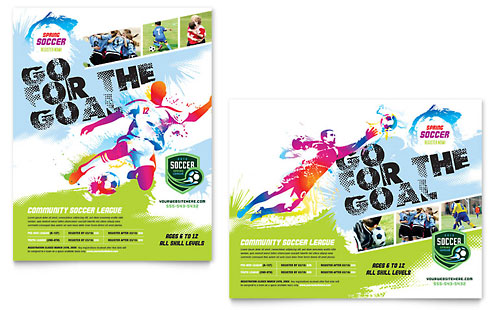 Youth Soccer Poster - Word Template & Publisher Template