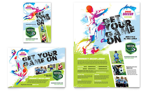 Youth Soccer Flyer & Ad Template Design