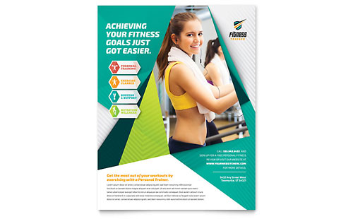 Fitness Trainer Flyer Template Design
