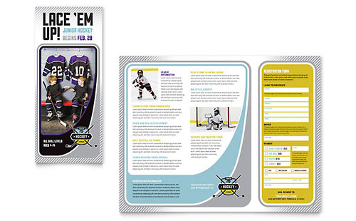 Junior Hockey Camp Brochure Template - Microsoft Word & Publisher