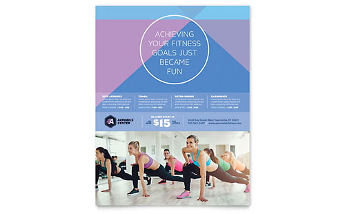 Aerobics Center Flyer Template Design