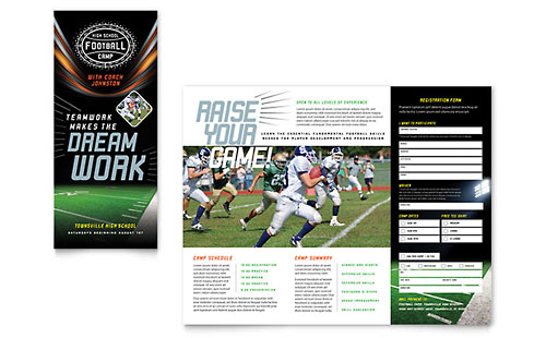 Football Training Brochure - Word Template & Publisher Template