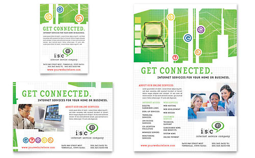 ISP Internet Service Flyer & Ad - Microsoft Office Template