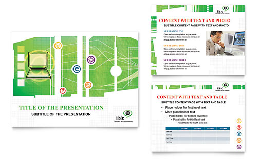 ISP Internet Service PowerPoint Presentation Template - Microsoft Office