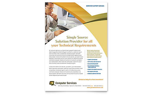 Computer Services & Consulting Flyer Template Design