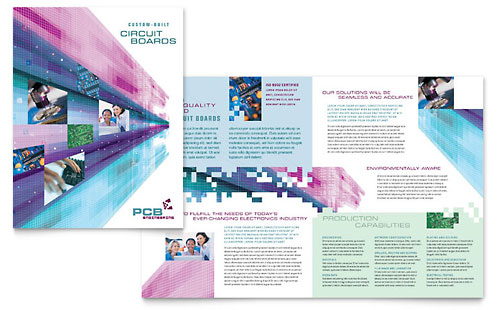 High-Tech Manufacturing Brochure Template - Microsoft Office