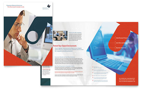 Computer Software Company Brochure Template - Microsoft Office