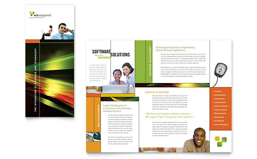 Internet Software Brochure Template - Microsoft Office