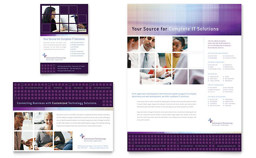 Information Technology Flyer & Ad - Microsoft Office Template