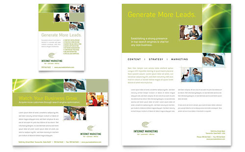 Internet Marketing Flyer & Ad - Microsoft Office Template
