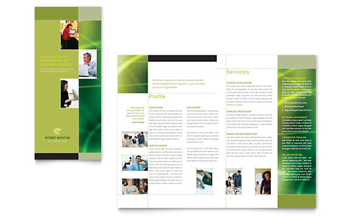 Internet Marketing Tri Fold Brochure Template - Microsoft Office