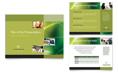 Internet Marketing PowerPoint Presentation Template - Microsoft Office