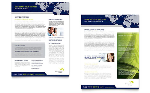 Global Communications Company Datasheet - Microsoft Office Template