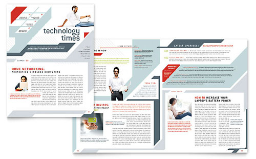 Computer Solutions Newsletter - Microsoft Office Template