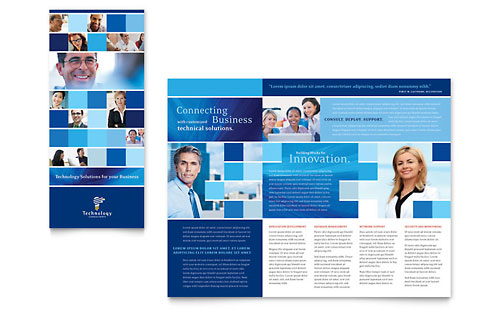 Technology Consulting & IT Tri Fold Brochure Template - Microsoft Office