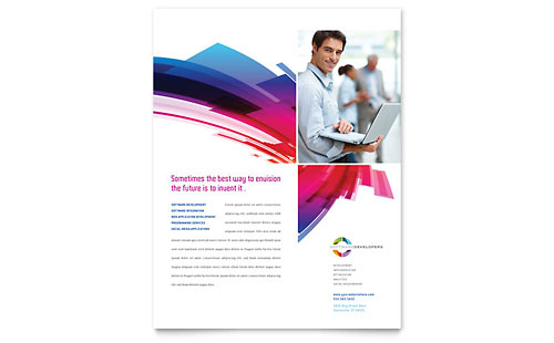 Software Solutions Flyer Template - Microsoft Office
