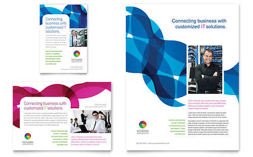 Network Administration Flyer & Ad - Microsoft Office Template