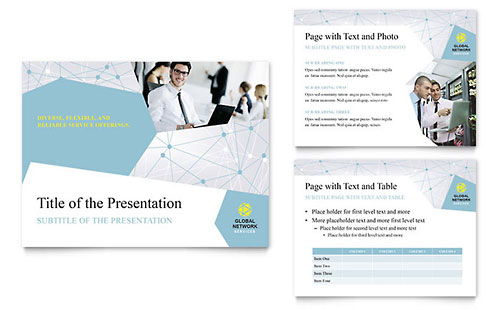 Global Network Services - Sample PowerPoint Presentation Template - Word & Publisher