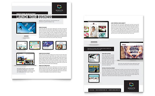 Website Designer Datasheet Template Design