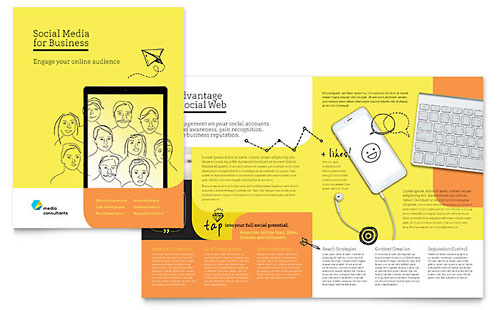 Social Media Consultant - Sample Pamphlet Template - Word & Publisher