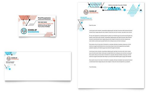 Computer Engineering Business Card & Letterhead Template - Microsoft Office