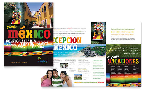 Mexico Travel Brochure - Word Template & Publisher Template