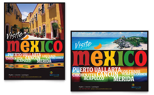 Mexico Travel Poster - Microsoft Office Template