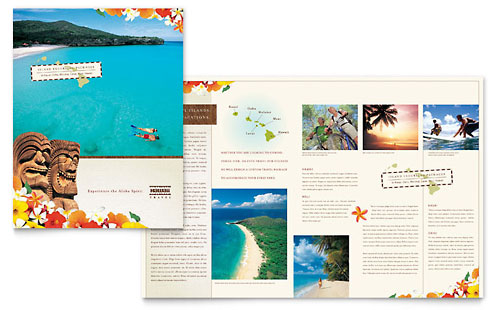 Hawaii Travel Vacation Brochure Template - Microsoft Office