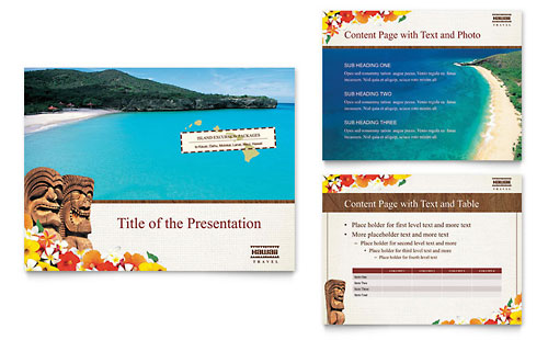 Hawaii Travel Vacation PowerPoint Presentation - Microsoft Office Template