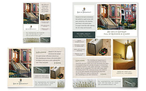 Bed & Breakfast Motel Flyer & Ad Template - Microsoft Office