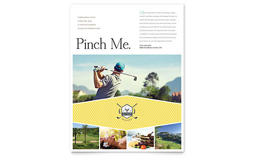 Golf Resort Flyer Template Design