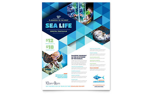 Ocean Aquarium Flyer - Microsoft Office Template