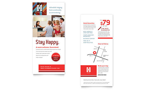 Hotel Rack Card Template Design