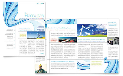 Renewable Energy Consulting Newsletter - Microsoft Office Template