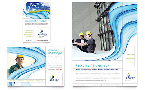 Renewable Energy Consulting Flyer & Ad Template - Microsoft Office