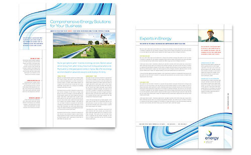Renewable Energy Consulting Datasheet - Microsoft Office Template