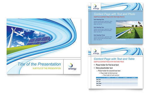 Renewable Energy Consulting PowerPoint Presentation Template - Microsoft Office