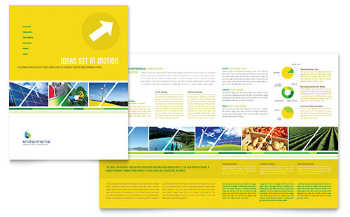 Environmental Conservation Brochure Template - Microsoft Office