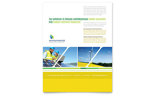Environmental Conservation Flyer - Microsoft Office Template